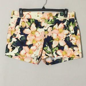 J. Crew Floral Chino Shorts Sz 14